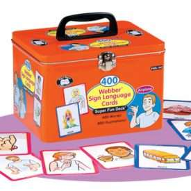 400 Webber® Sign Language Cards